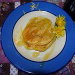 Dandelion Drop scones with Dandelion Syrup.