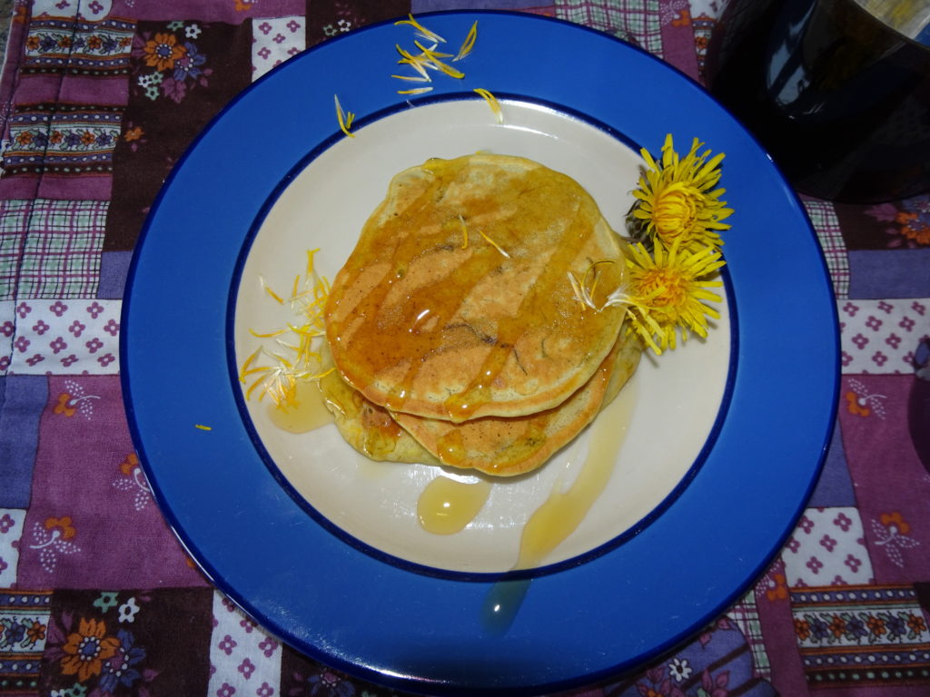 Dandelion Drop scones with Dandelion Syrup.