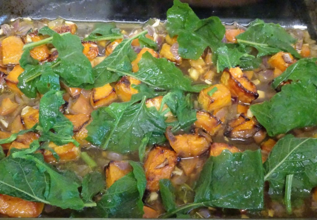 Roast butternut and nipplewort