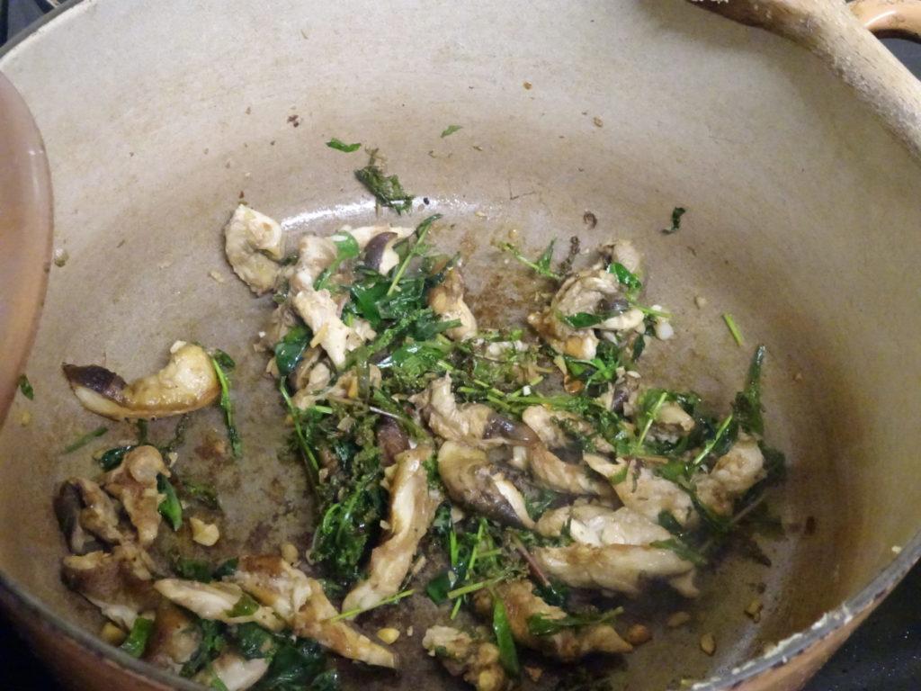 Cooking Parasol Mushroom