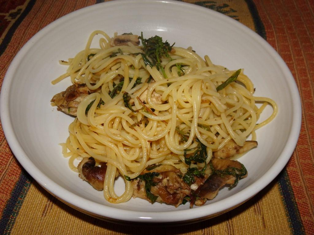 Parasol Mushroom Pasta